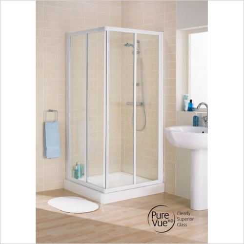 Lakes Bathrooms - Framed Corner Entry 750mm