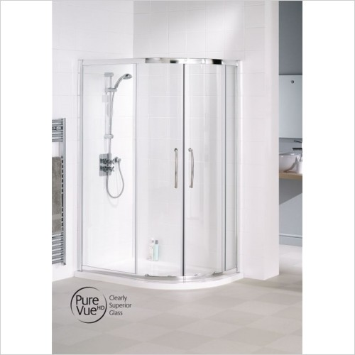 Lakes Bathrooms - Easy Fit Offset Quadrant 900 x 800mm