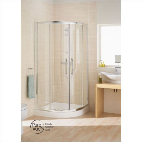 Lakes Bathrooms - Double Door Offset Quadrant 900 x 800mm