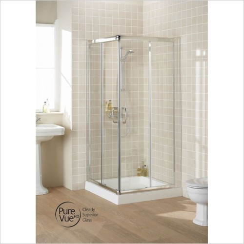 Lakes Bathrooms - Semi Framed Corner Entry 750mm