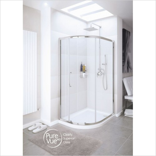 Lakes Bathrooms - Single Door Quadrant 800 x 800mm