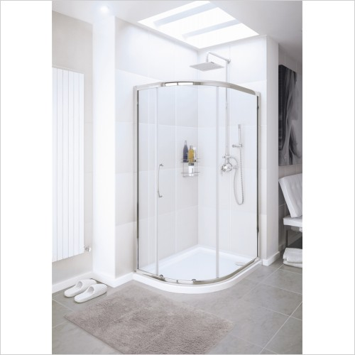Lakes Bathrooms - Single Door Offset Quadrant 900 x 760mm