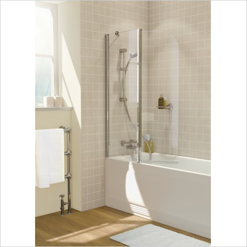 Lakes Bathrooms - Classic Curved Hinged Bath Screen