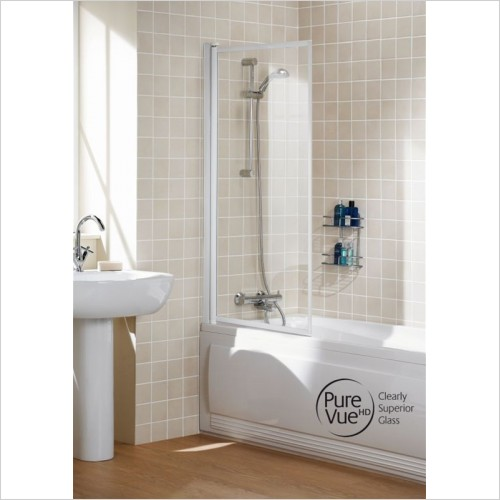 Lakes Bathrooms - Classic Single Panel Framed Bath Screen 760mm