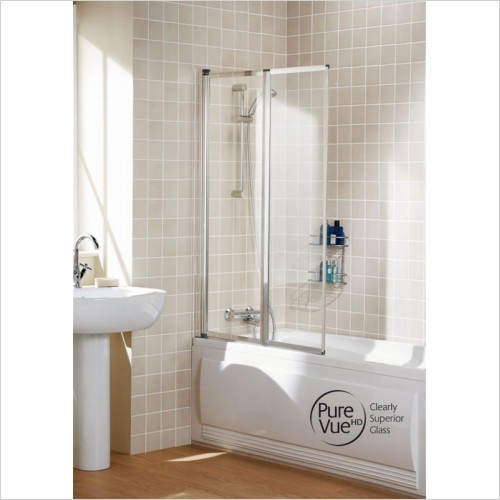 Lakes Bathrooms - Classic Double Panel Framed Bath Screen 950mm