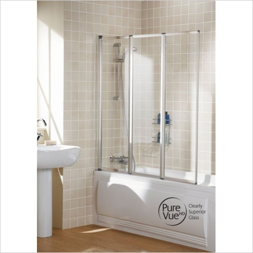 Lakes Bathrooms - Classic Triple Panel Framed Bath Screen 1390mm