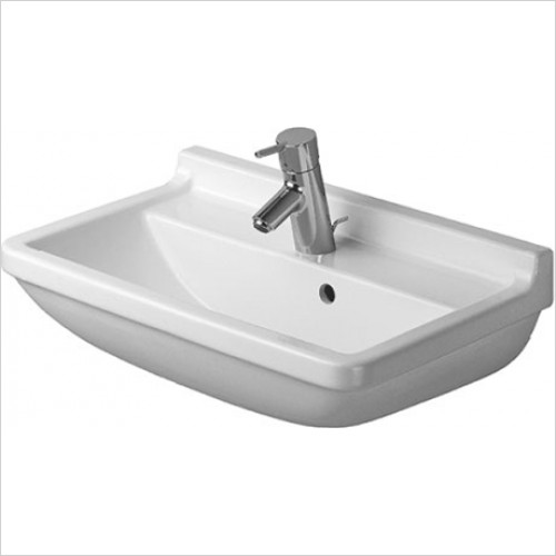 Duravit - Starck 3 Washbasin Compact 600 x 370mm - 1 Tap Hole