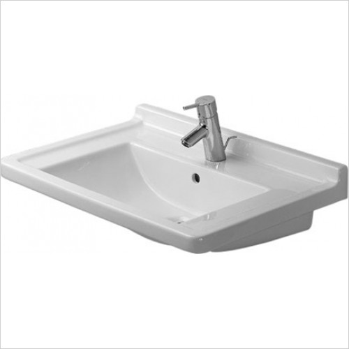 Duravit - Starck 3 Washbasin 700 x 490mm - 1 Tap Hole