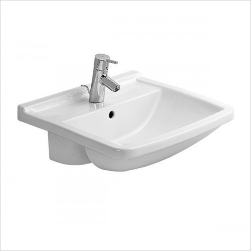 Duravit - Starck 3 Semi Recessed Washbasin 550 x 460mm
