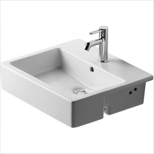 Duravit - Vero Semi Recessed Washbasin 550 x 470mm - 1 Tap Hole