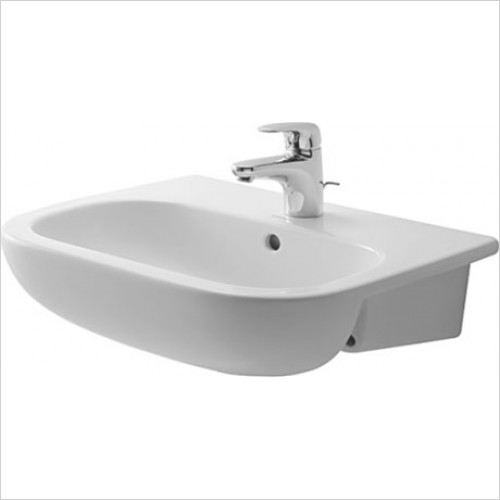 Duravit - D-Code Semi Recessed Washbasin 550 x 440mm