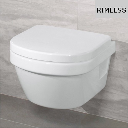 Villeroy & Boch - Architectura Wall Hung Compact Rimless WC & Seat Pack