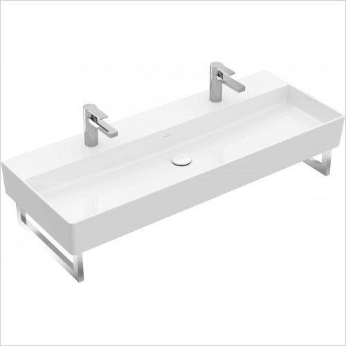 Villeroy & Boch - Memento 2.0 Washbasin 1200 x 470mm With 2 Tap Holes