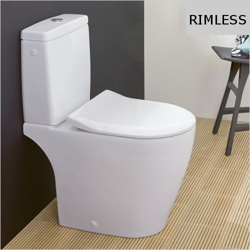 Villeroy & Boch - Avento Close Coupled Back To Wall WC, Rimless