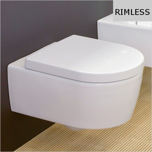 Villeroy & Boch - Avento Wall Hung Rimless WC & Soft Close Seat Pack