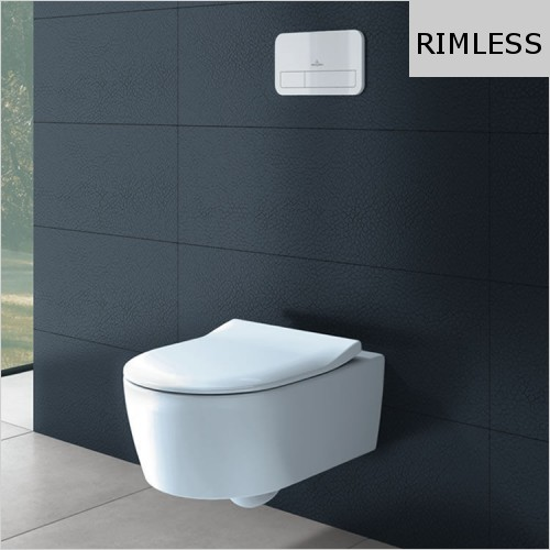 Villeroy & Boch - Avento Wall Hung Rimless WC & Slimseat Soft Close Seat Pack