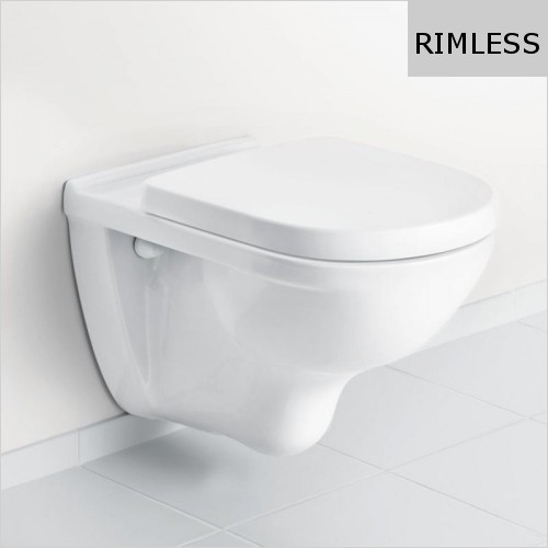 Villeroy & Boch - O.Novo Rimless Wall Hung WC & Soft Close Seat Pack