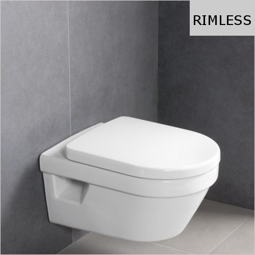 Villeroy & Boch - Architectura Wall Mounted WC, Rimless & Soft Close Seat Pack