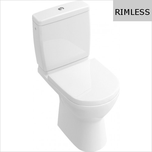 Villeroy & Boch - O.Novo Compact Close Coupled WC, Rimless
