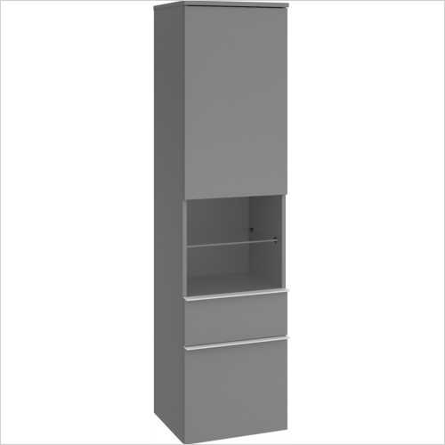Villeroy & Boch - Venticello Tall Cabinet With 2 Drawers, Chrome Handle LH
