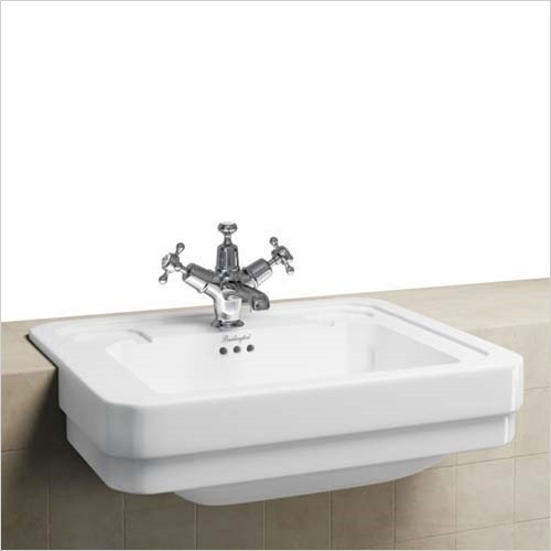 Burlington - Semi-Recessed Basin 580 x 470, 1 Tap Hole
