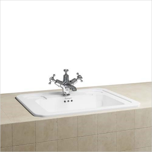 Burlington - Countertop Vanity Basin 540 x 420mm, 1 Tap Hole