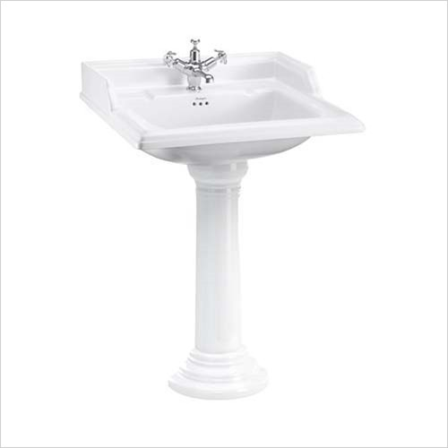 Burlington - Classic Square Basin 650mm, 1 Tap Hole