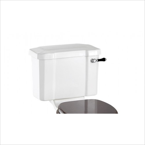 Burlington - 440mm Close Coupled Cistern With Black Lever