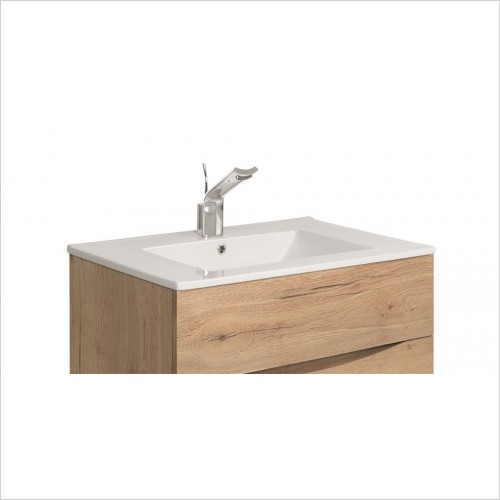 Crosswater - Glide II Ceramic Basin 700mm With 1 Tap Hole