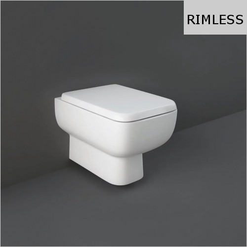 RAK - Series 600 Rimless Wall Hung WC & Soft Close Seat