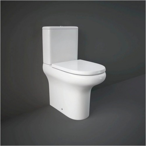 RAK - Compact Close Coupled Comfort Height BTW WC & Seat