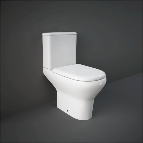 RAK - Compact Close Coupled Comfort Height WC & Sot Close Seat