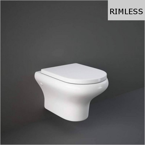 RAK - Compact Wall Hung Rimless WC & Soft Close Seat