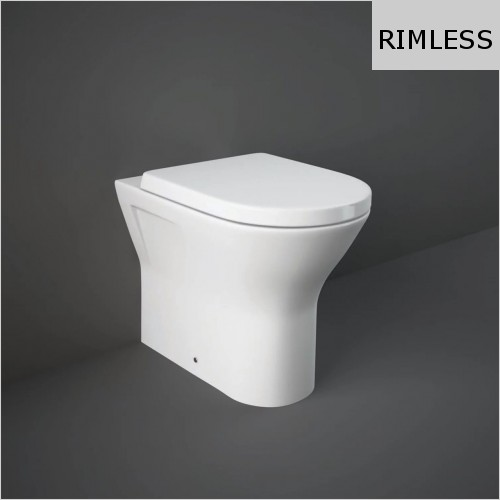 RAK - Resort Rimless Comfort Height 425 Back To Wall WC & Seat
