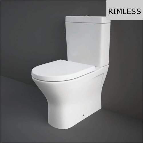 RAK - Resort Mini Rimless Close Coupled Back To Wall WC & Seat