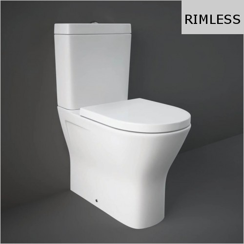 RAK - Resort Maxi Rimless Close Coupled Back To Wall WC & Seat
