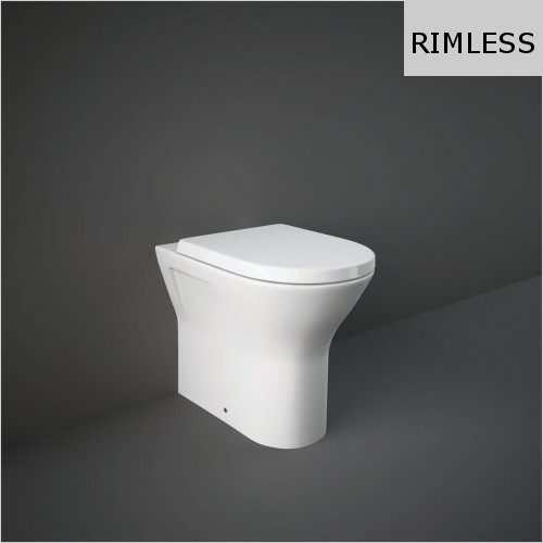 RAK - Resort Rimless Back To Wall WC & Soft Close Seat
