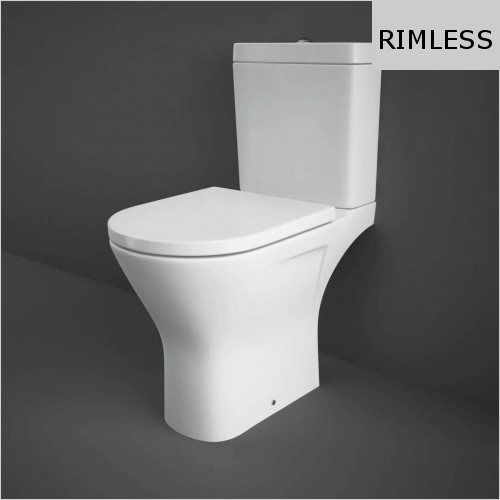 RAK - Resort Mini Rimless Close Coupled WC & Soft Close Seat