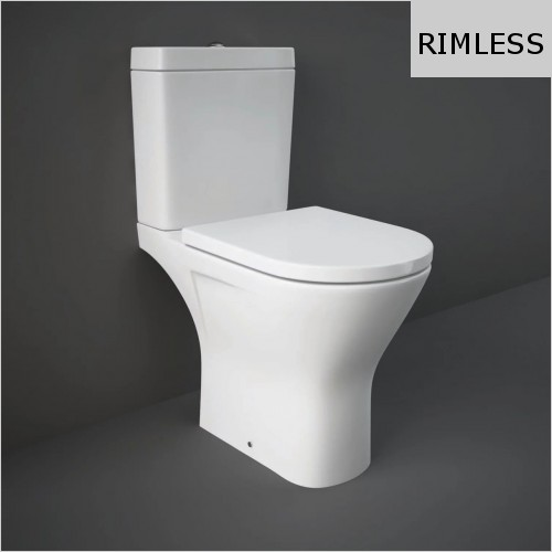 RAK - Resort Maxi Rimless Close Coupled WC & Soft Close Seat