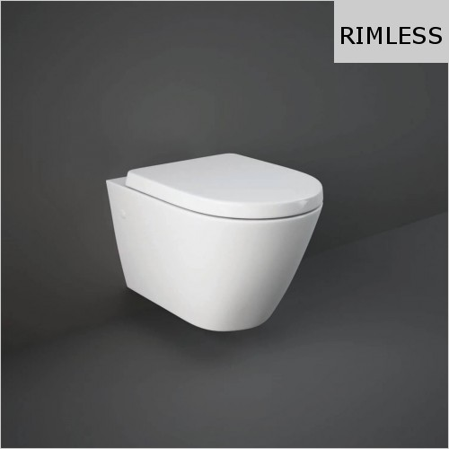 RAK - Resort Rimless Wall Hung WC & Soft Close Seat
