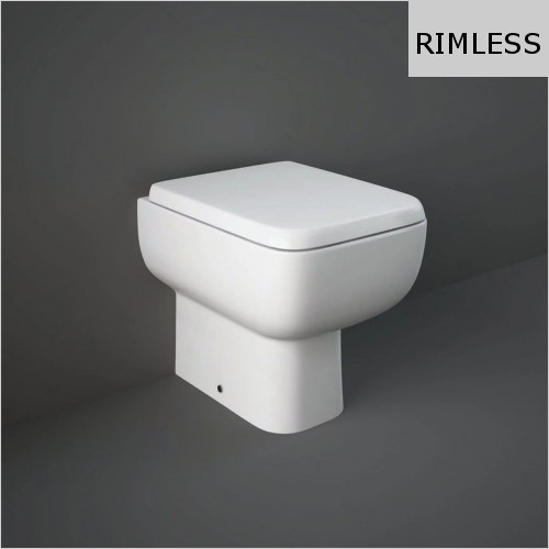 RAK - Series 600 Rimless Back To Wall WC & Soft Close Seat