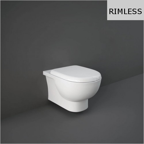 RAK - Tonique Rimless Wall Hung Toilet & Soft Close Seat