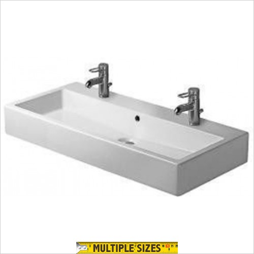 Duravit - Vero Wall Hung Washbasin 1000 x 470mm 2 Tap Holes