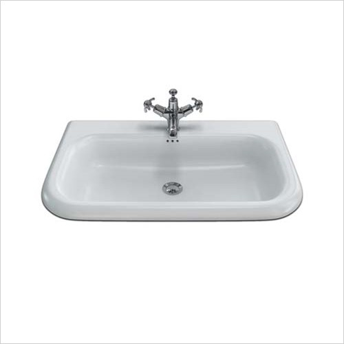 Clearwater - Natural Stone Roll Top Basin 750 x 470mm