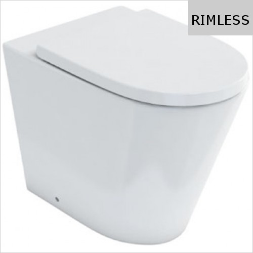 Britton - Sphere Rimless Back To Wall WC
