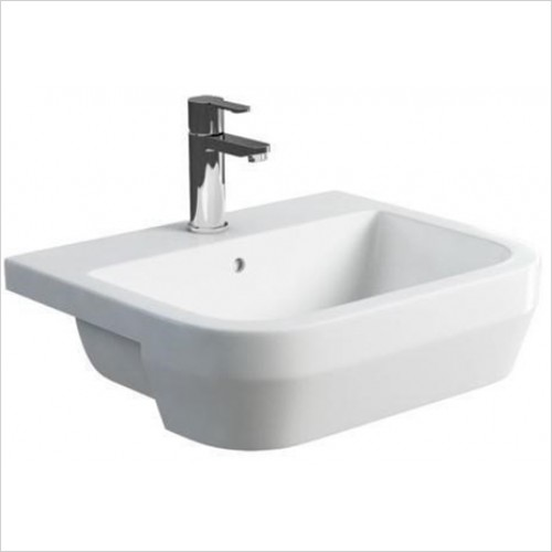 Britton - Curve Semi Recessed Basin 550 x 450mm