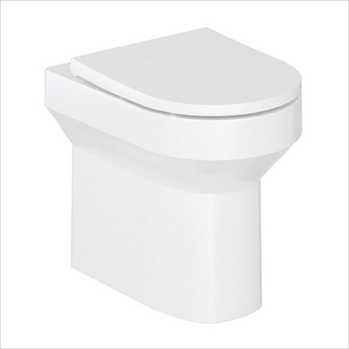 Britton - Shoreditch Round Rimless Back To Wall WC & Soft Close Seat