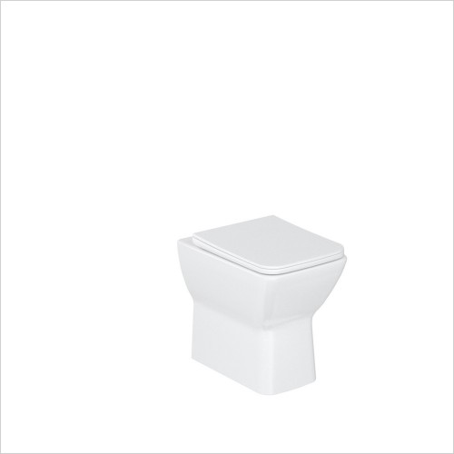 Britton - Shoreditch Square Rimless Back To Wall WC & Soft Close Seat