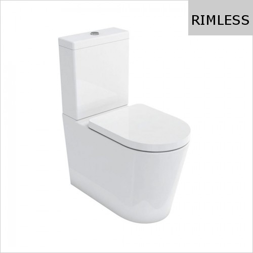 Britton - Sphere Comfort Height Close Coupled Back To Wall WC