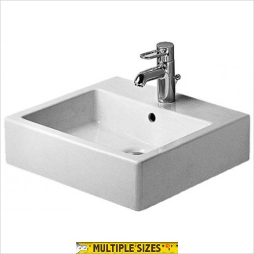Duravit - Vero Wall Hung Washbasin 500 x 470mm - 1 Tap Hole